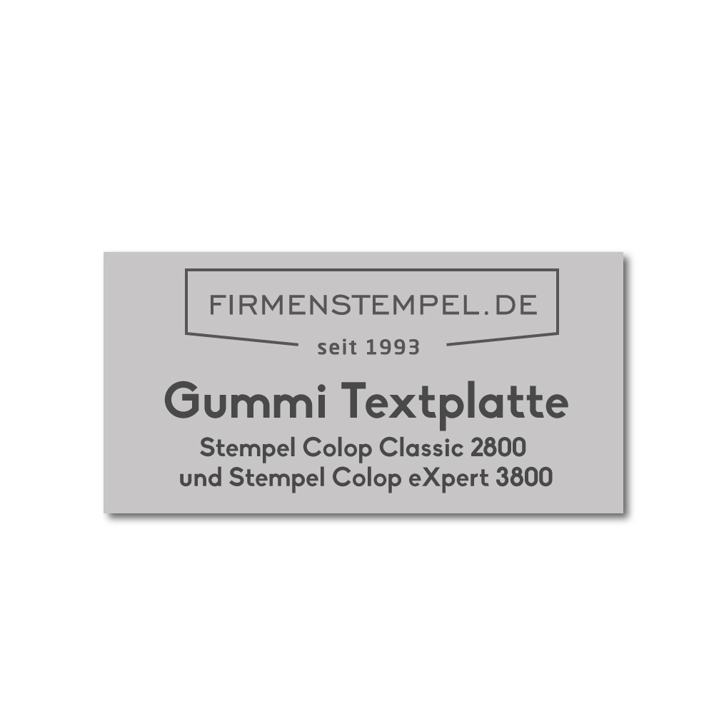 Colop Classic / eXpert Stempelplatte