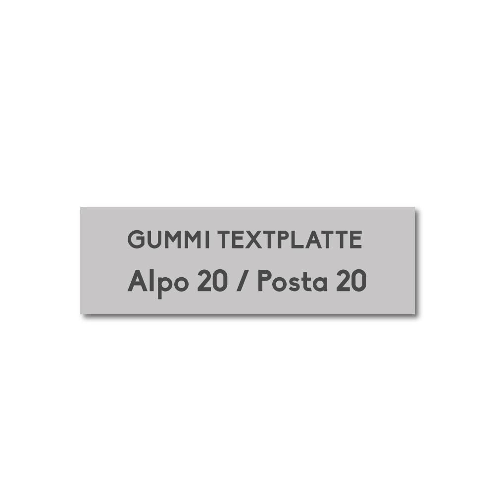 Alpo/Posta Stempelplatte