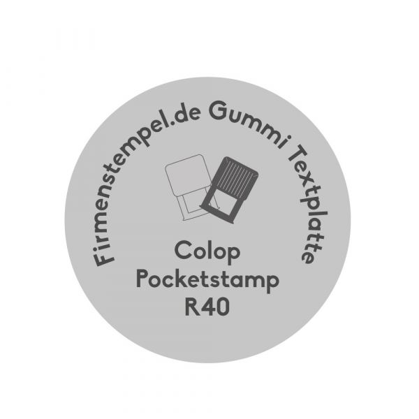 Stempelplatte Colop Pocketstamp R40