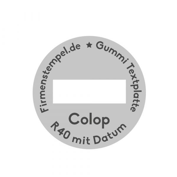 Textplatte Colop Printer r40 datum